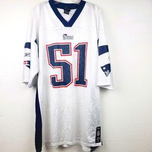 NFL Reebok Patriots Jerod Mayo #51 Football Jersey